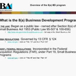 SBA 8(a) Business Development Program Webinar
